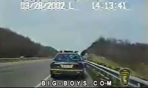 Police Officer Avoids Near Death Collission